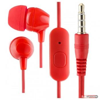 Perfeo PF_A4615 наушники внутриканальные TUNE красные