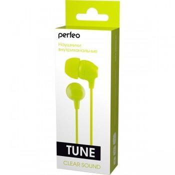 Perfeo PF_A4616 наушники внутриканальные TUNE лайм