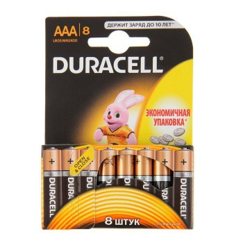 Батарея Duracell Basic LR03-8BL AAA (8шт)