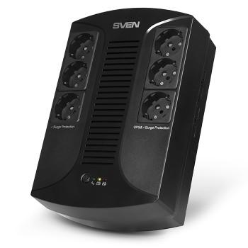 Источник бесперебойного питания SVEN UP-L1000E 1000VA/500W (6 розеток: 3х UPS/сетевой фильтр+3 x сет