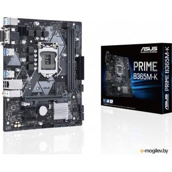 Материнская плата Asus PRIME B365M-K Soc-1151v2 Intel B365 2xDDR4 mATX AC`97 8ch(7.1) GbLAN+VGA+DVI