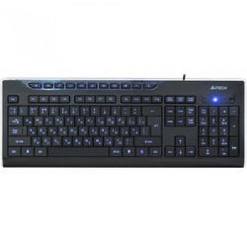 Клавиатура A4 KD-800L черный USB slim Multimedia LED