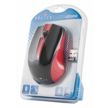 Мышь Oklick 485MW черный/красный оптическая (1200dpi) беспроводная USB (2but)