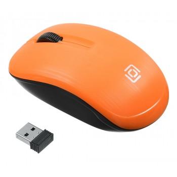 Мышь Oklick 525MW оранжевый оптическая (1000dpi) беспроводная USB (2but)