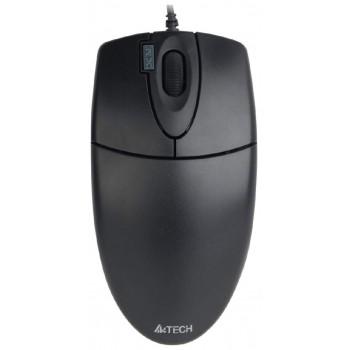 Мышь A4 OP-620D черный оптическая (800dpi) USB (3but)