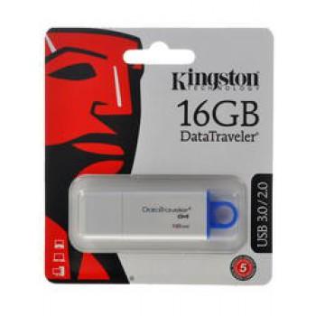 Флеш Диск 16GB Kingston DataTraveler G4 DTIG4/16GB USB2.0 белый/синий