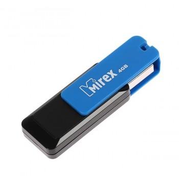 Флеш диск 4GB Mirex City, USB 2.0, синий/черный