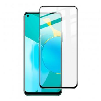 """Защитное стекло """"Полное покрытие"""" для Huawei Honor 9S черное"""