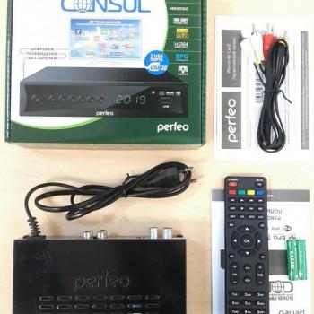 """Приставка DVB-T2/C Perfeo """"CONSUL"""" для цифр.TV, Wi-Fi, IPTV, HDMI, 2 USB, DolbyDigital, пульт ДУ (PF"""