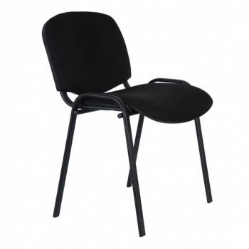Офисное кресло или стул Бюрократ Виси С-11 черный { Стул для посетителей , черный каркас, черная тка