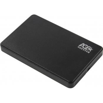 "Внешний корпус для HDD AgeStar 3UB2P2 SATA III пластик черный 2.5"""