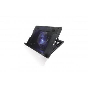 """CROWN  Подставка для ноутбука CMLS-926 (Black) 15,6"""", 1*Fan,blue light,2*USB"""