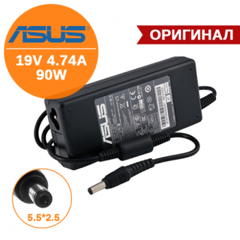 Блок питания для Asus 19V, 4.74A, 90W, без кабеля, 5.5х2.5