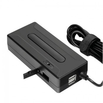 Универсальный адаптер питания для ноутбуков GiNZZU® GA-10120U (120W, 2xUSB, 12V-24V, 9 DC-IN
